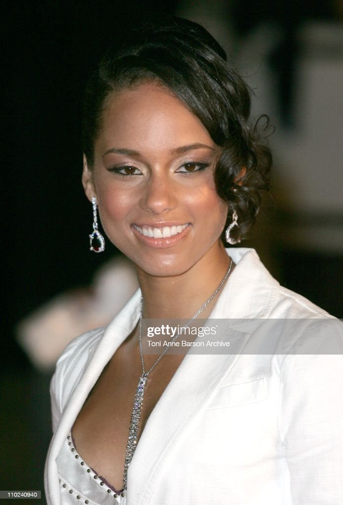 Alicia Keys during 2005 NRJ Music Awards - Arrivals at Palais des festivals in Cannes, France.