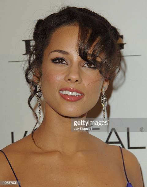 Alicia Keys during 2006 Clive Davis PreGRAMMY Awards Party Arrivals at Beverly Hilton Hotel in Beverly Hills California United States