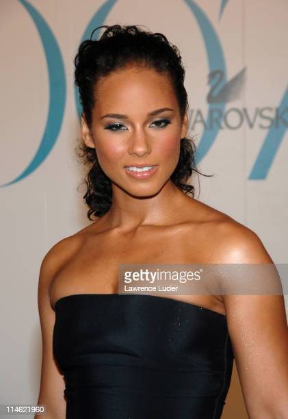 Alicia keys during 2007 CFDA Fashion Awards Red Carpet at New York Public Library in New York City New York United States
