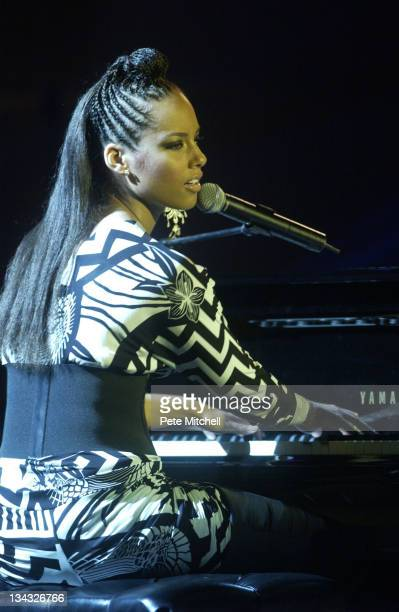 Alicia Keys during 9th Annual BET Walk of Fame Honoring Aretha Franklin at BET Studios in Washington DC United States