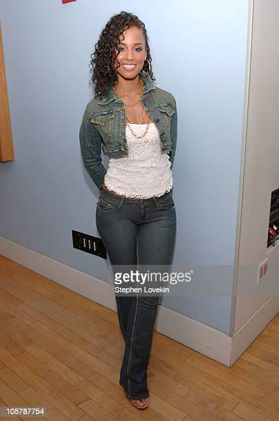 Alicia Keys during Alicia Keys and Fall Out Boy Visit MTV's TRL October 11 2005 at TRL Studios Times Square in New York City New York United States