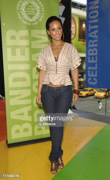 Alicia Keys during Alicia Keys EMI Music Publishing CEO Martin Bandier and Syracuse University Announce New Educational Partnership June 5 2006 at...