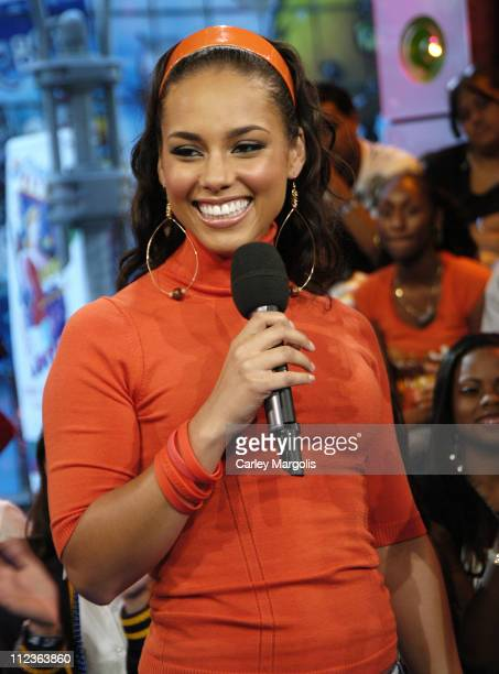 Alicia Keys during Alicia Keys Eve and Bow Wow Visit MTV's 'TRL' September 22 2005 at MTV Studios in New York City New York United States