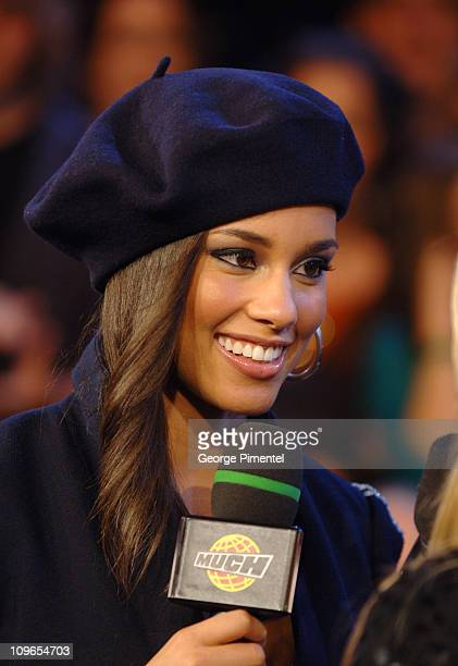 Alicia Keys during Alicia Keys Visits MuchMusic Studios September 28 2005 at CHUM CITY TV Building in Toronto Ontario Canada