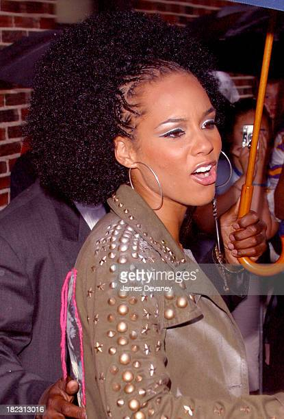 Alicia Keys during Alicia Keys Visits the Late Show with David Letterman June 12 2002 at Ed Sullivan Theatre in New York City New York United States