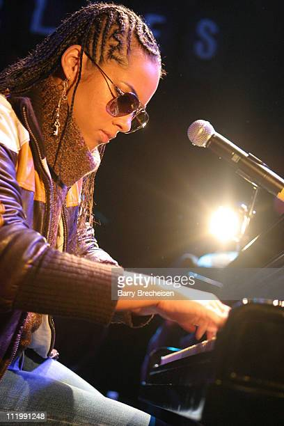 Alicia Keys during Ashanti and Alicia Keys Headline Doug Banks Let's Jam Session at House of Blues in Chicago Illinois United States