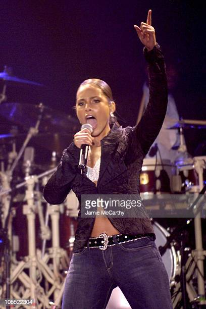 Alicia Keys during Cipriani Wall Street Concert Series Freaturing Alicia Keys Performance at Cipriani Wall Street in New York City New York United...