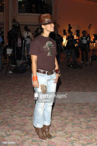 Alicia Keys during Clive Davis' 2005 PreGRAMMY Awards Party Rehearsals Day 1 at Beverly Hills Hotel in Beverly Hills California United States