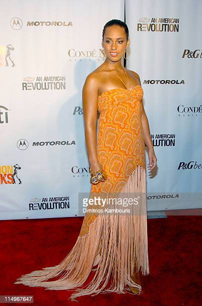 Alicia Keys during Conde Nast Media Group Presents Fashion Rocks 2004 Arrivals at Radio City Music Hall in New York City New York United States