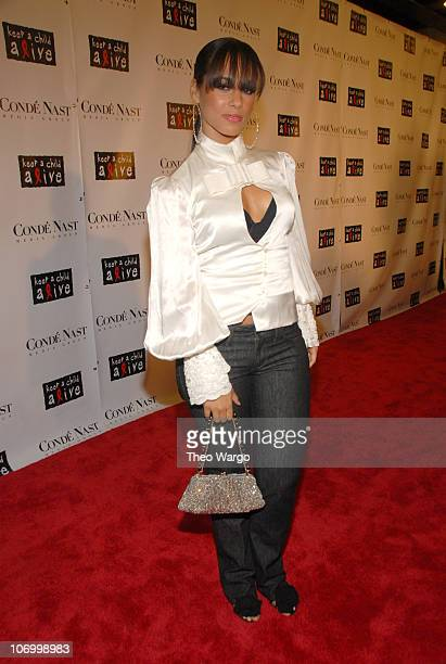 Alicia Keys during Conde Nast Media Group Presents The Black Ball to Benefit Keep A Child Alive Hosted by Alicia Keys and Iman Red Carpet at...
