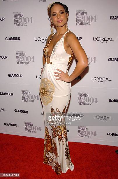 Alicia Keys during Glamour Magazine Salutes The 2004 Women of the Year Arrivals at American Museum of Natural History in New York City New York...