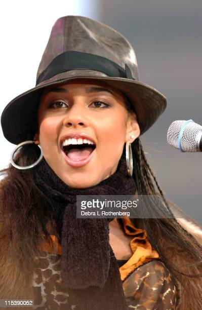 Alicia Keys during Good Morning America's 2003 Concert Series Alicia Keys at Marcus Garvey Park in New York City New York United States