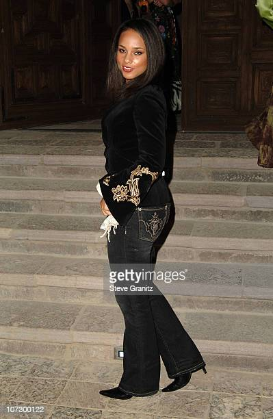Alicia Keys during Gucci Spring 2006 Fashion Show to Benefit Children's Action Network and Westside Children's Center Arrivals at Home of Eva and...