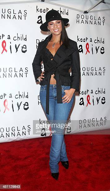 Alicia Keys during Keep A Child Alive Black Ball Kickoff at Cain in New York City New York United States