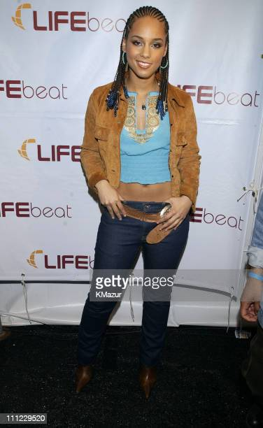 Alicia Keys during LIFEBeat's Urban AID 2 Benefit Concert at Beacon Theater in New York City New York United States