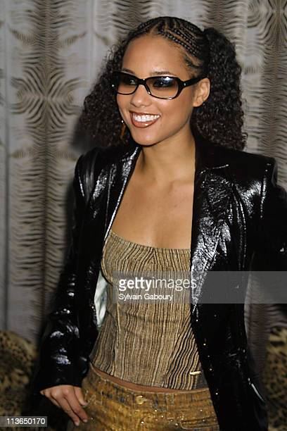 Alicia Keys during Roberto and Eva Cavalli Dinner cohosted by Rena Sindi at The Bloom Ballroom in New York New York United States