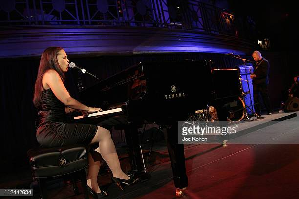 Alicia Keys during Samsung's Four Seasons Of Hope Gala to Benefit the Keep a Child Alive Foundation at Cipriani Wall Street in New York City New York...