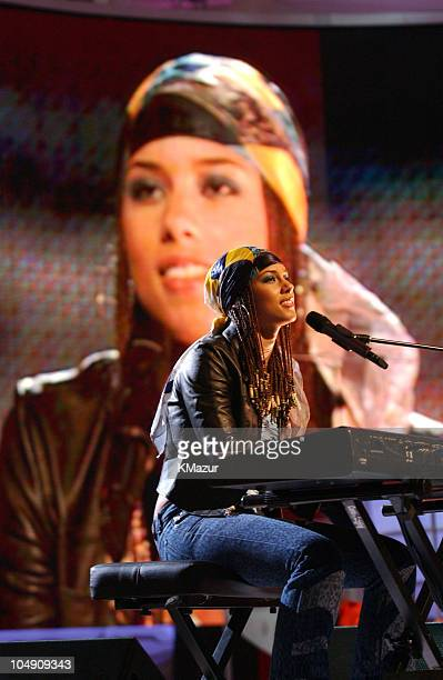 Alicia Keys during The 2001 MTV Video Music Awards Rehearsals at Lincoln Center in New York City New York United States