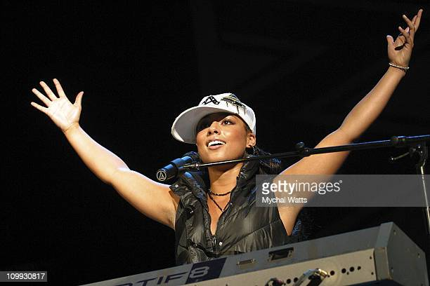 Alicia Keys during WBLS 1075 Celebrates 20th Anniversary of Hal Jackson's Sunday Classics at Madison Square Garden Theater in New York New York...