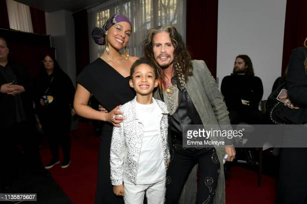 Alicia Keys Egypt Daoud Dean and Steven Tyler attend the 2019 iHeartRadio Music Awards which broadcasted live on FOX at Microsoft Theater on March 14...