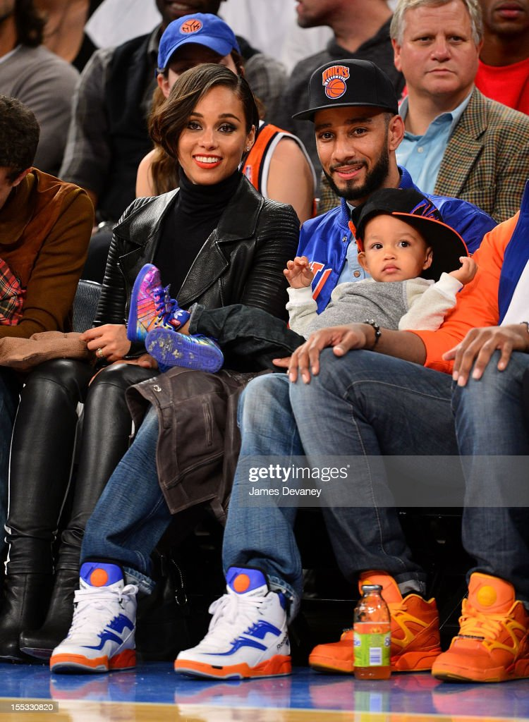 Celebrities Attend The Miami Heat Vs The New York Knicks Game