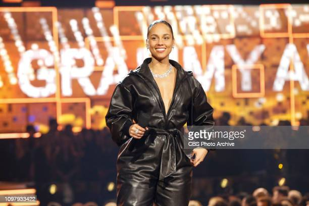 Alicia Keys hosts at THE 61ST ANNUAL GRAMMY AWARDS broadcast live from the STAPLES Center in Los Angeles Sunday Feb 10 on the CBS Television Network