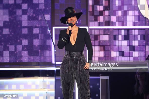 Alicia Keys hosts THE 61ST ANNUAL GRAMMY AWARDS broadcast live from the STAPLES Center in Los Angeles Sunday Feb 10 on the CBS Television Network