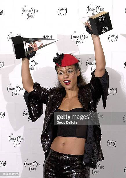 Alicia Keys in the press room at the 29th Annual American Music Awards
