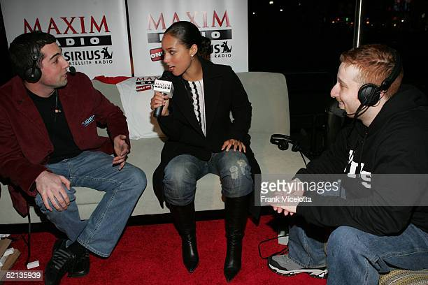 Alicia Keys is interviewed before attending the Next House Hosts ESPN The Magazine Party With Alicia Keys on February 4 2005 in Jacksonville Florida