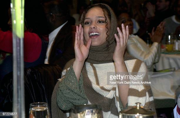 Alicia Keys is on hand at a preGrammy brunch at the Hilton on Sixth Ave