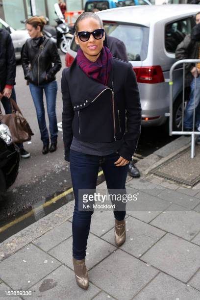 Alicia Keys is pictured leaving the BBC Radio 1 on September 28 2012 in London England