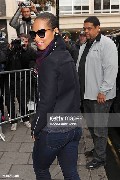 Alicia Keys is seen arriving at the BBC Radio 1 Studios on September 28 2012 in London United Kingdom
