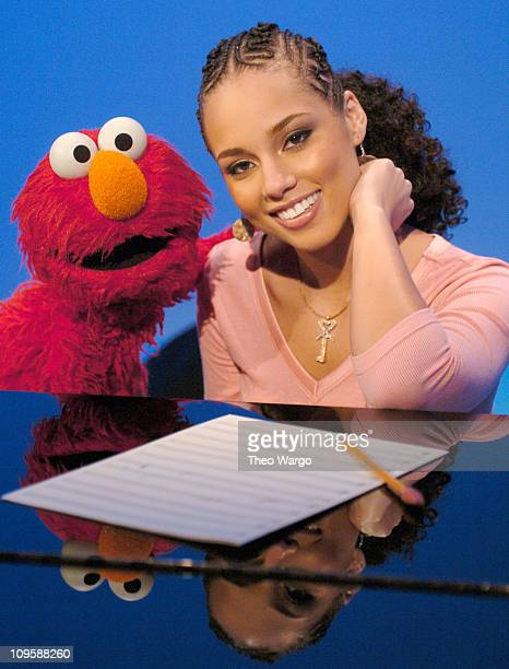 Alicia Keys joins her favorite dance partner Elmo on Sesame Street The duo sang 'Dancin' a rendition of her hit song 'Falling' This will air as part...