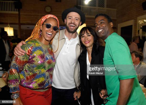 Alicia Keys Justin Timberlake Rashida Jones and Chris Rock attend Apollo in the Hamptons 2017 hosted by Ronald O Perelman at The Creeks on August 12...