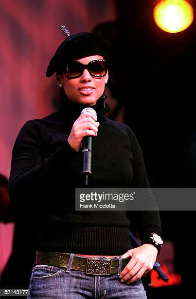 Alicia Keys mc's the NEXT House Host ESPN The Magazine Alicia Keys Charity Event on February 5 2005 in Jacksonville Florida