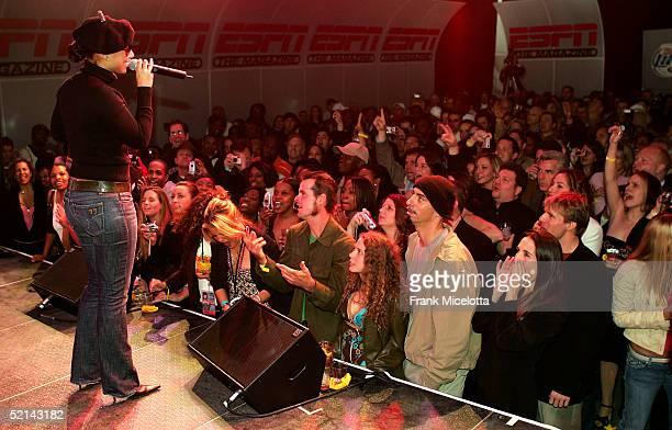Alicia Keys mc's the NEXT House Host ESPN The Magazine Alicia Keys Charity Event on February 5 2005 in Jacksonville Florida