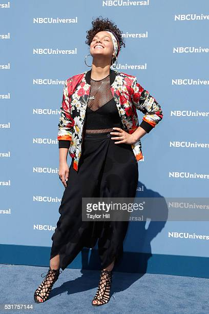 Alicia Keys of 'The Voice' on NBC attends the NBCUniversal 2016 Upfront on May 16 2016 in New York New York