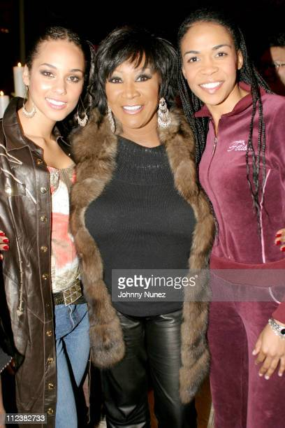 Alicia Keys Patti LaBelle and Michelle Williams during Hennessy Paradis Hosts An Intimate Dinner Celebrating The Diary Of Alicia Keys Album Release...
