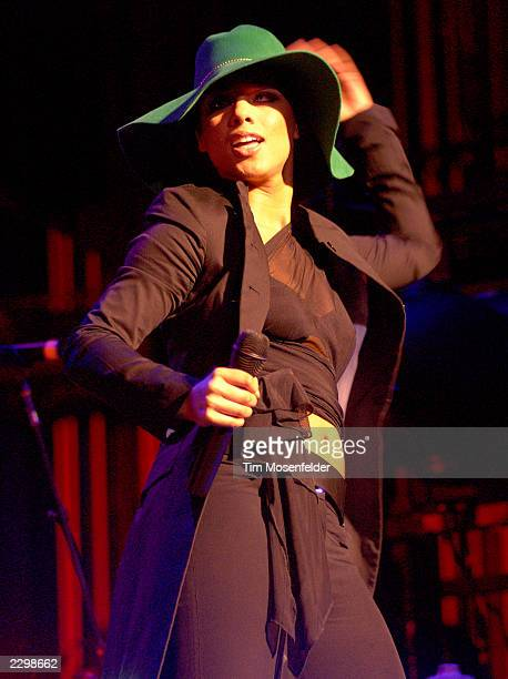 Alicia Keys performing at the Paramount Theater in Oakland Calif on March 3rd 2002 Image By Tim Mosenfelder/ImageDirect