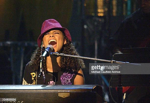 Alicia Keys performs a medley for the Humanitarian Award to Muhammad Ali