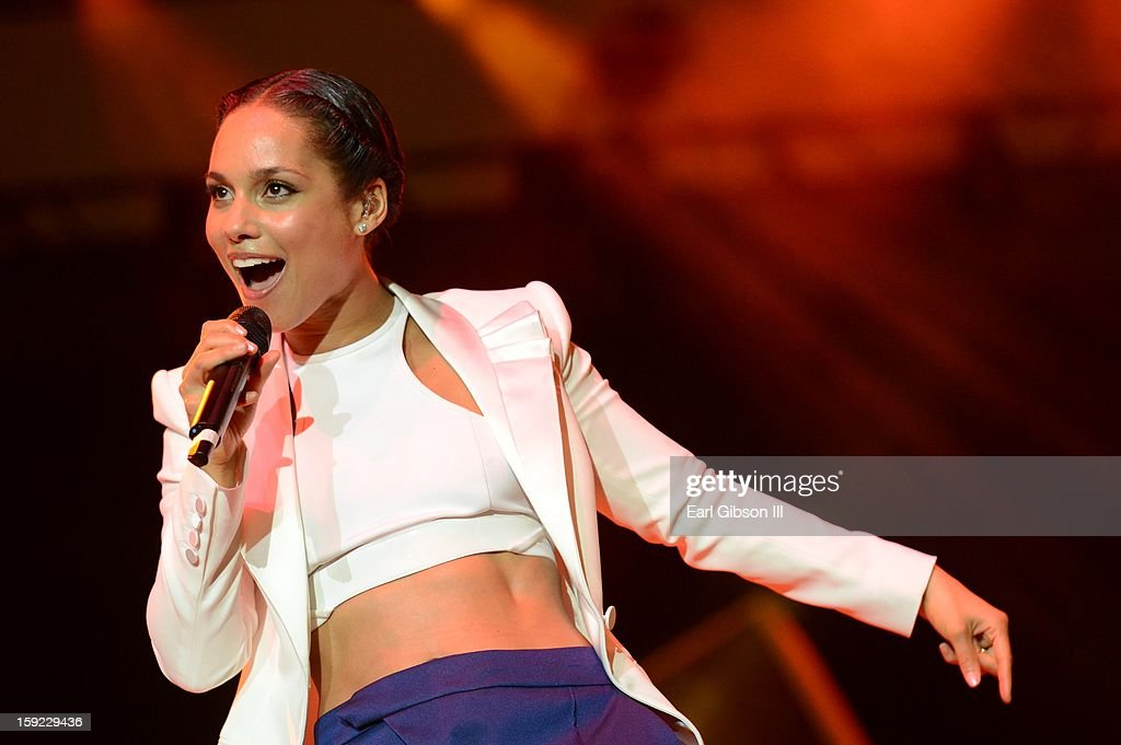 Alicia Keys performs at Monster Products Retailer Awards Show on Wednesday January 9, 2013 at the Paris Hotel in Las Vegas, Nevada.