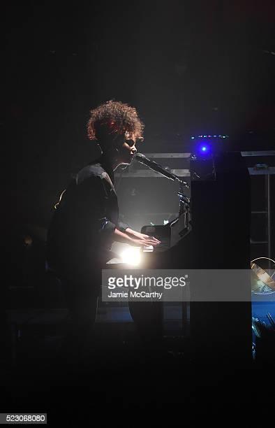 Alicia Keys performs at the 2016 Tribeca Film Festival at Highline Ballroom on April 21, 2016 in New York City.