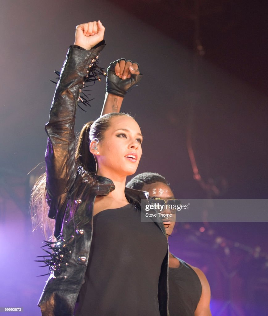 Alicia Keys Performs At The National Indoor Arena In Birmingham