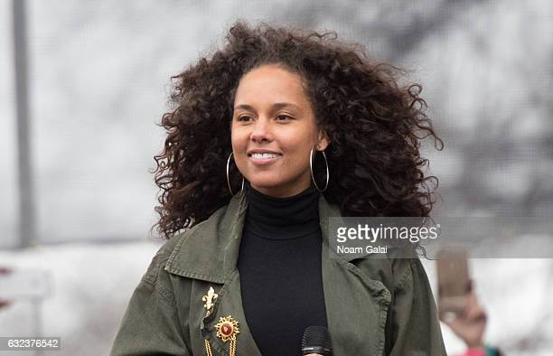 Alicia Keys performs at the Women's March on Washington on January 21 2017 in Washington DC