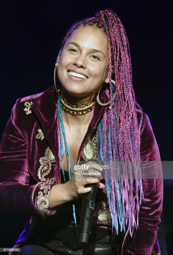 Alicia Keys performs during the 8th Annual Concert For UCSF Benioff Children's Hospital at AT&T Park on November 7, 2017 in San Francisco, California.