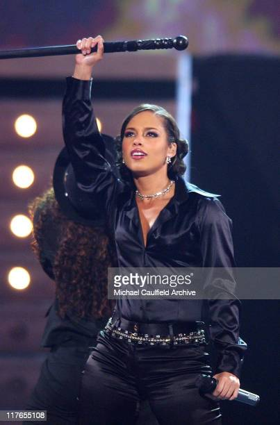 Alicia Keys performs 'Karma' during 32nd Annual American Music Awards Show at Shrine Auditorium in Los Angeles California United States