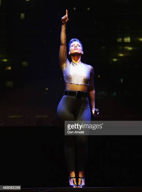 Alicia Keys performs live for fans at Allphones Arena on December 11 2013 in Sydney Australia