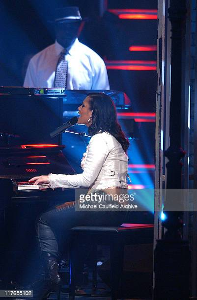 Alicia Keys performs 'My Boo' during 32nd Annual American Music Awards Show at Shrine Auditorium in Los Angeles California United States