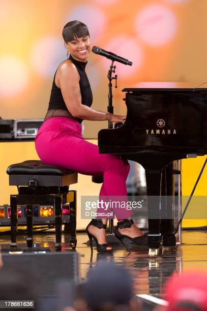"Alicia Keys performs on ABC's ""Good Morning America"" at Rumsey Playfield on August 30, 2013 in New York City."