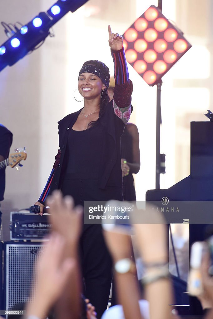 Alicia Keys performs on NBC's 'Today' at Rockefeller Plaza on September 2, 2016 in New York City.